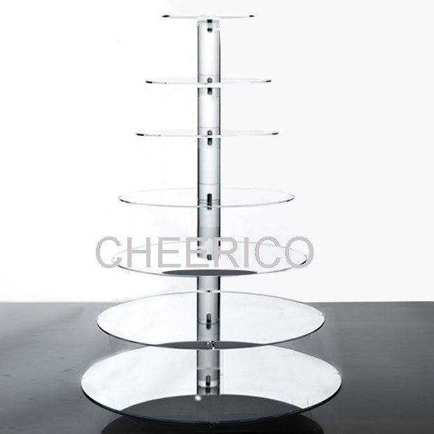 7 Tier Mirrored Maypole Cupcake Stand