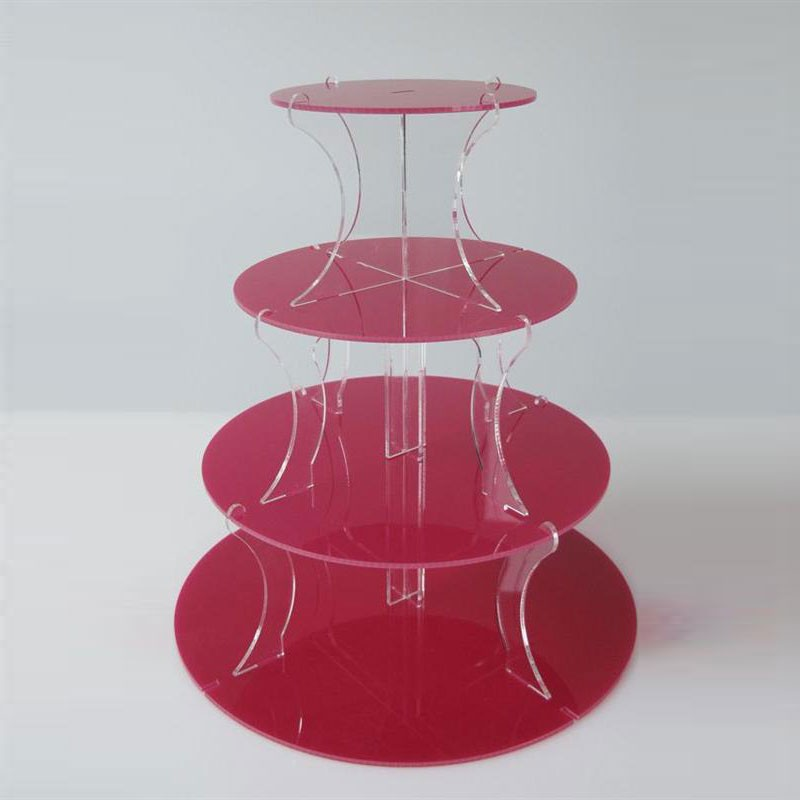 Cake Amp Cupcake Stand Jusalpha 4 Tier Acrylic Glass Round