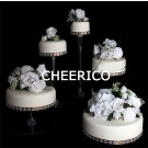 5 Tier Cascading Wedding Acrylic Cake Stands