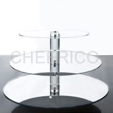 3 Tier Mirrored Effect Maypole Cupcake Stand