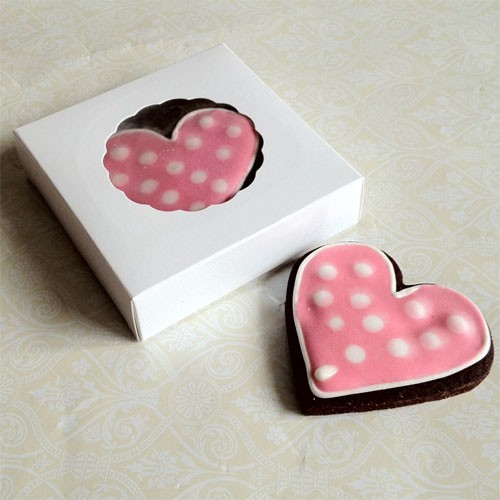 White Cookie Boxes for 2-3 Cookies- 11cm X 2.54cm ($1.20pc x 25 units)