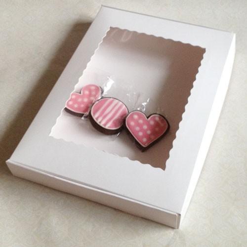 White Cookie Boxes - 36 X 25.4 X 4.5cm ($3.20pc x 25 units)