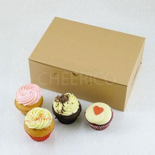 6 Cupcake No Window Kraft Brown Box($1.80/pc x 25 units)