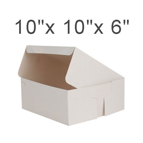 """Cake Boxes - 10"""" x 10"""" x 6"""" ($1.70/pc x 25 units)"""