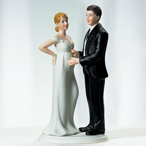 Expecting Bride Wedding Cake Topper