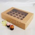 24 Kraft Brown Window MIni Cupcake Boxes