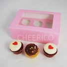 6  Window Pink Cupcake Box($1.80/pc x 25 units)