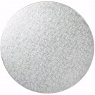 "Silver Masonite Cake Board 10 units 5 ""inches Round - 5MM Thickness"