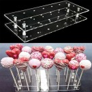 21 Holes Lollipop Clear Stand